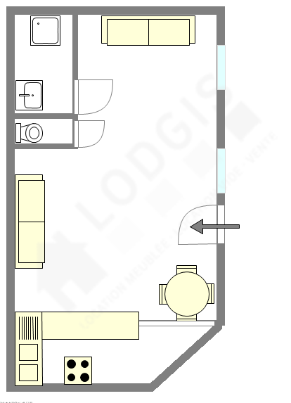 Apartamento Val de marne est - Plano interativo