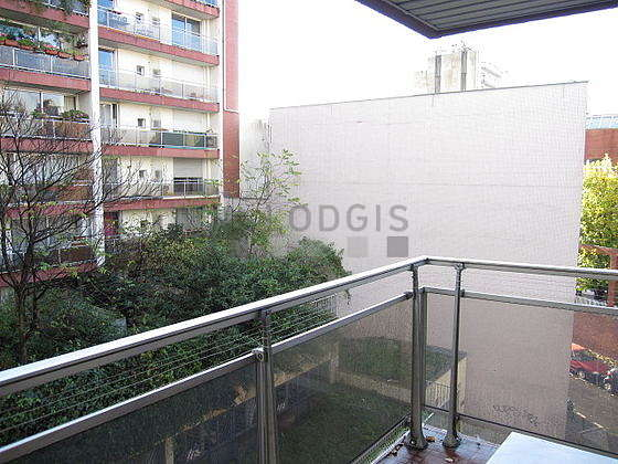 Bright balcony with tilefloor
