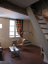 Wohnung Paris 4° - Wohnzimmer