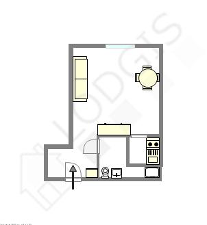 Appartamento Parigi 18° - Piantina interattiva