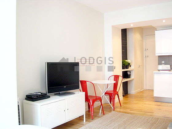 Living room furnished with 1 sofabed(s) of 140cm, 1 bed(s) of 140cm, tv, dvd player