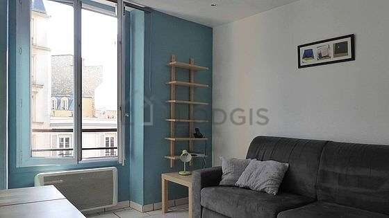 Living room furnished with 1 sofabed(s) of 140cm, sofa, coffee table, wardrobe
