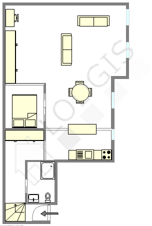 Loft Paris 5° - Interaktiven Plan