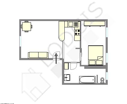 公寓 巴黎18区 - 互動圖