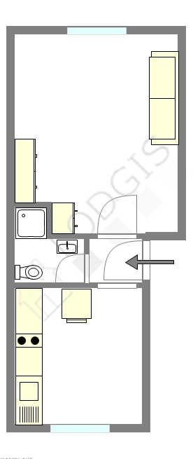 Квартира Париж 15° - Интерактивный план