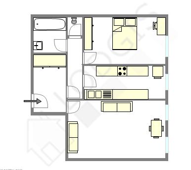 公寓 巴黎13区 - 互動圖