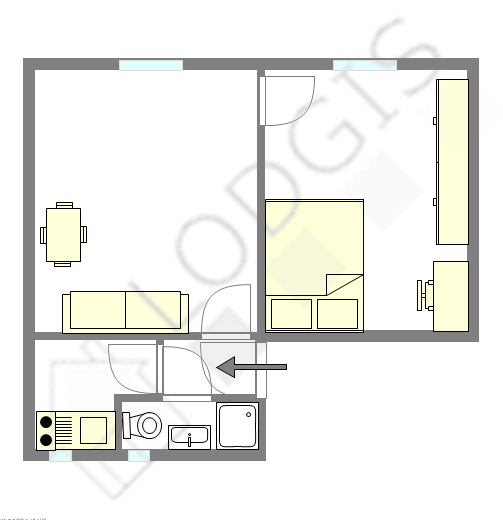 Apartamento Paris 20° - Plano interativo