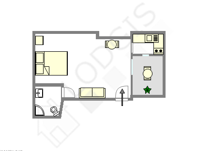 Apartment Paris 9° - Interactive plan