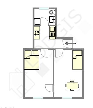 Apartment Paris 10° - Interactive plan