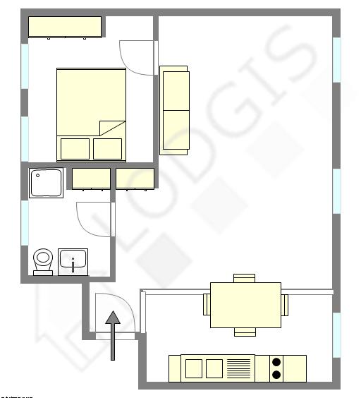 Apartment Paris 8° - Interactive plan
