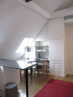Very quiet living room furnished with 1 sofabed(s) of 120cm, hi-fi stereo, cupboard, 2 chair(s)