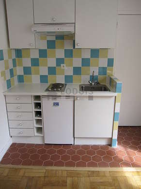 Beautiful kitchen with floor tilesfloor