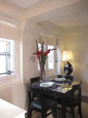 Beautiful dining room with floor tilesfloor for 4 person(s)