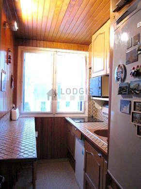 Beautiful kitchen with tilefloor