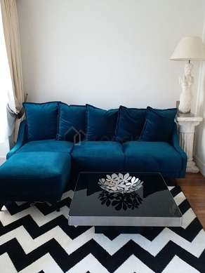 Living room furnished with 1 sofabed(s) of 140cm, tv, hi-fi stereo