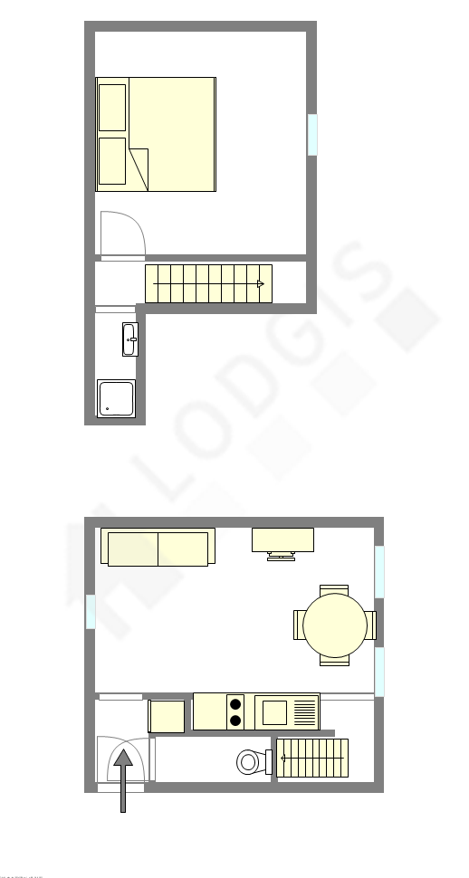 Duplex Paris 14° - Interaktiven Plan