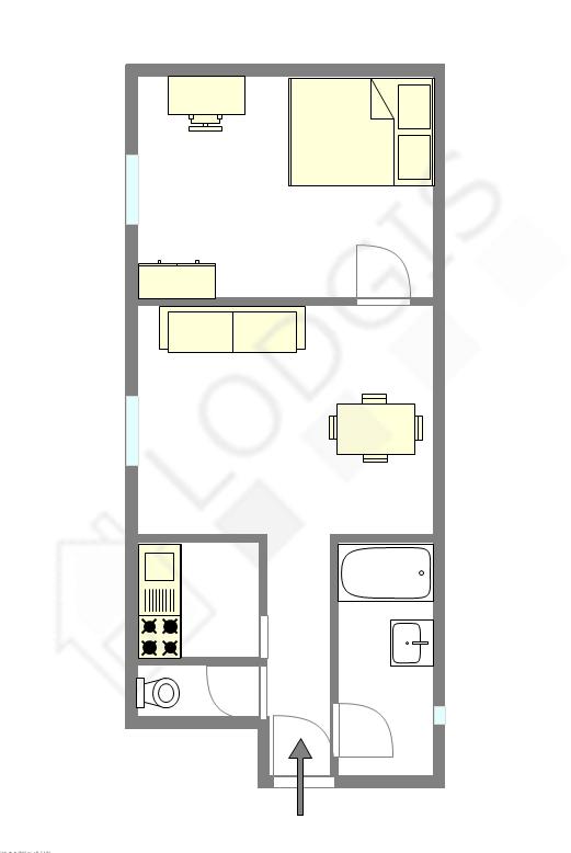 Apartment Paris 19° - Interactive plan