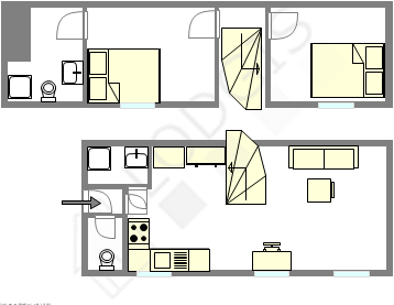 dúplex París 5° - Plano interactivo