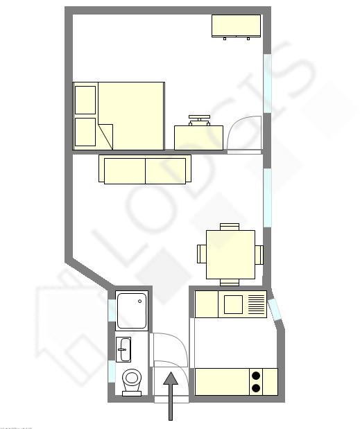 Apartment Paris 15° - Interactive plan