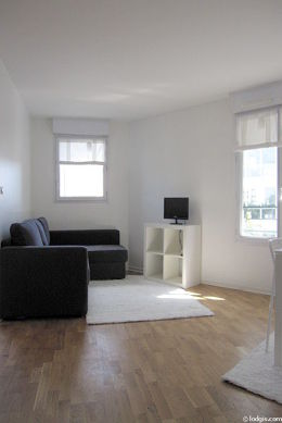 Quiet living room furnished with 1 sofabed(s) of 160cm, tv, wardrobe, cupboard