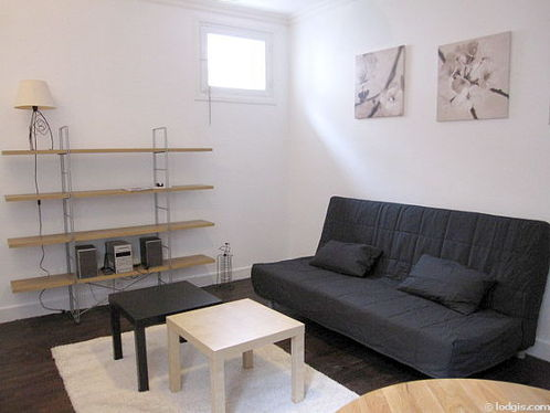 Quiet living room furnished with 1 sofabed(s) of 160cm, tv, hi-fi stereo, 2 chair(s)