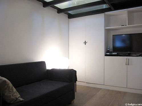 Living room furnished with cupboard