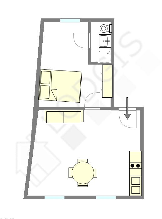 Apartamento París 20° - Plano interactivo