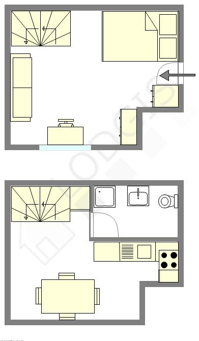 Duplex Paris 17° - Interactive plan