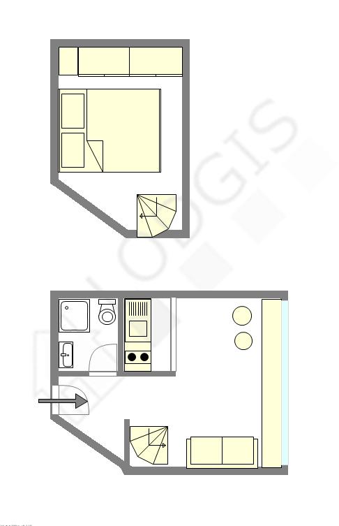 双层公寓 巴黎14区 - 平面图