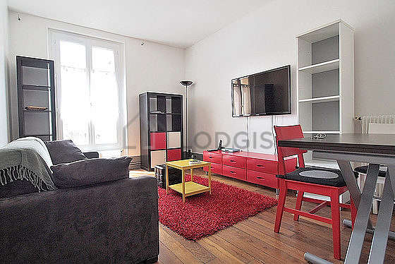 Very quiet living room furnished with 1 sofabed(s) of 140cm, tv, 1 armchair(s), 4 chair(s)