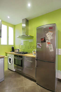 Very bright kitchen with double-glazed windows