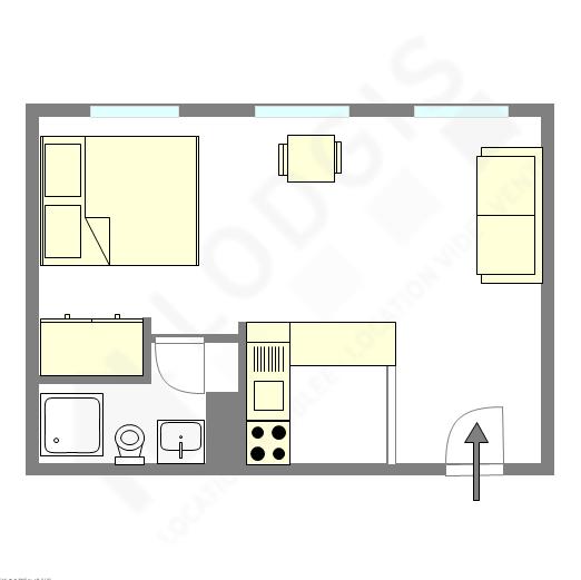 Wohnung Paris 4° - Interaktiven Plan