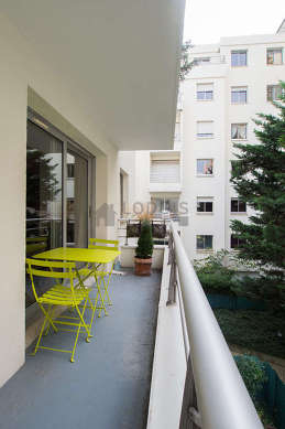 Balcony with view on courtyard