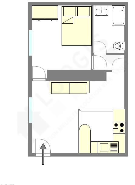 Квартира Hauts de seine Sud - Интерактивный план
