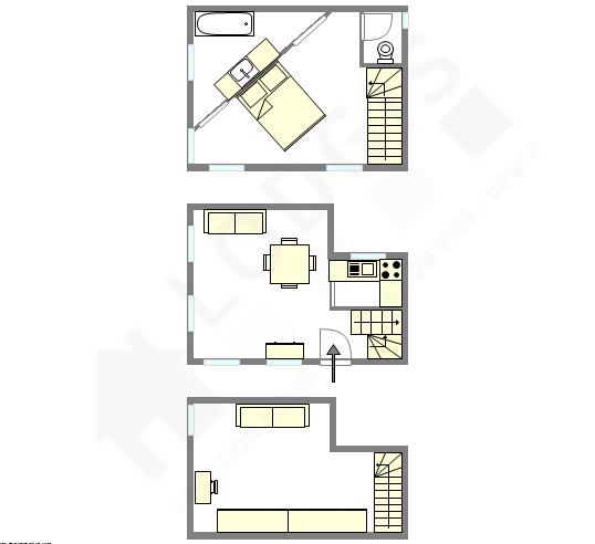 Дом Париж 12° - Интерактивный план