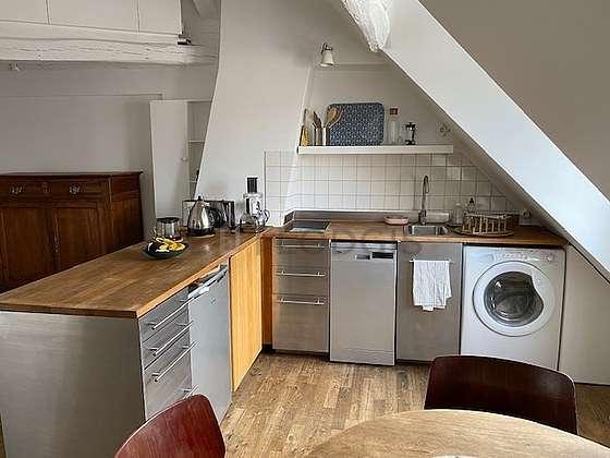Bright kitchen with double-glazed windows