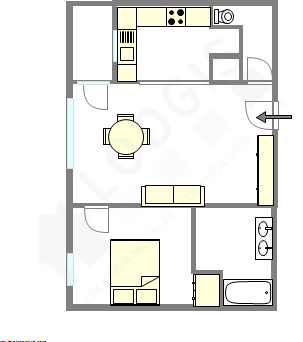 Apartamento Seine st-denis Est - Plano interactivo