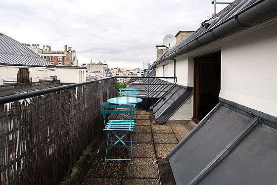 Quiet and very bright balcony
