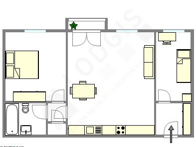 Appartamento Parigi 17° - Piantina interattiva