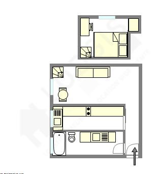 Wohnung Paris 5° - Interaktiven Plan