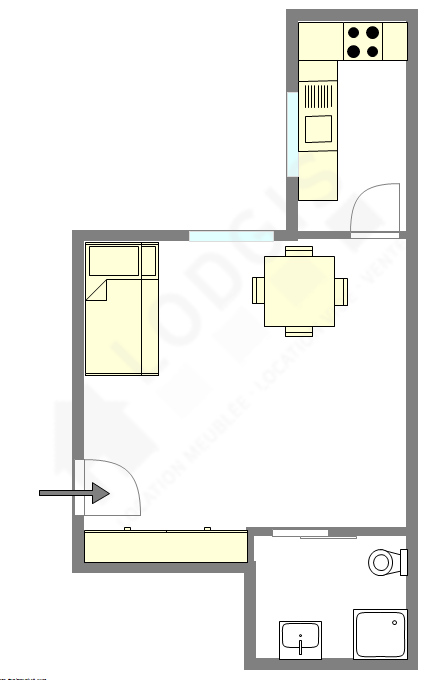 Wohnung Paris 5° - Interaktiven Plan