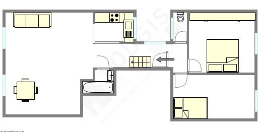 Wohnung Paris 8° - Interaktiven Plan