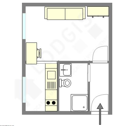 公寓 巴黎10区 - 平面图