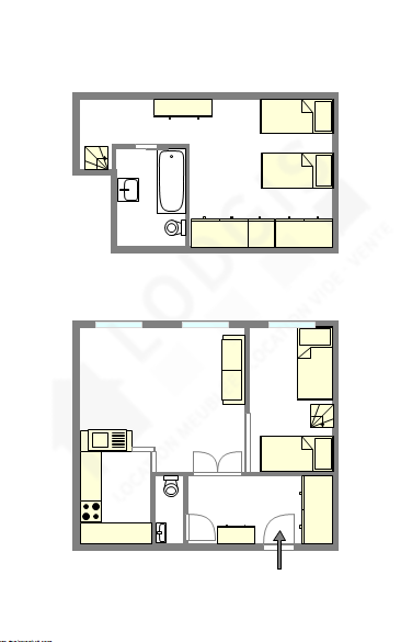 Duplex Paris 7° - Interactive plan