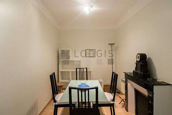 Beautiful dining room with tilefloor for 4 person(s)
