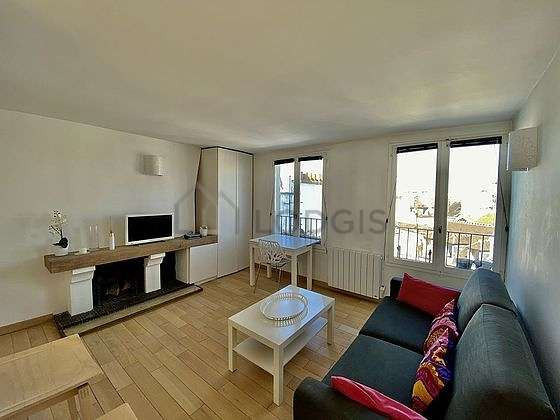 Very quiet living room furnished with 1 sofabed(s) of 160cm, tv, cupboard, 2 chair(s)