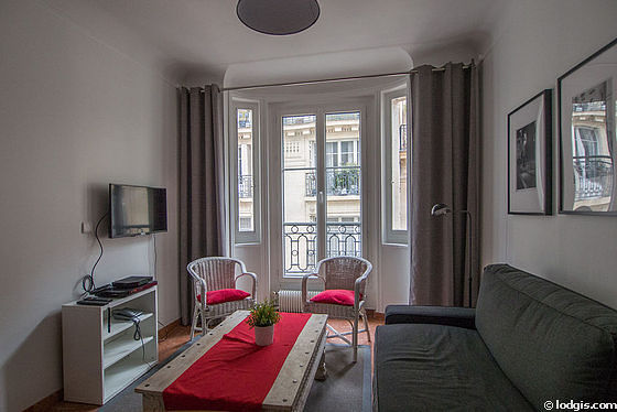 Living room of 11m² with marblefloor