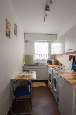 Beautiful kitchen with floor tilesfloor