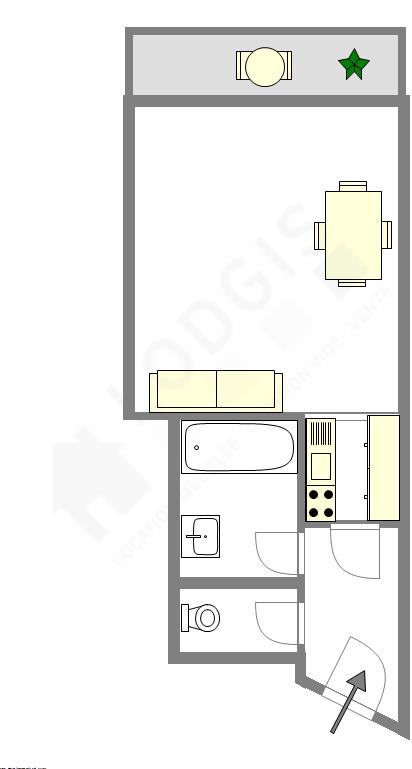 Apartamento Paris 19° - Plano interativo