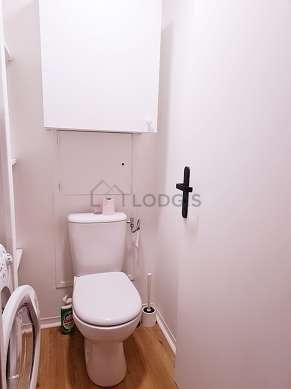 Toilets separated from the bathroom
